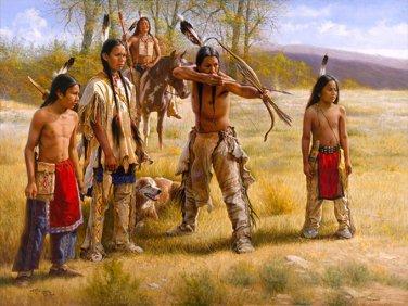 Native American Family Cross Stitch Pattern***L@@K***