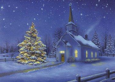 Country Church Christmas Cross Stitch Pattern***L@@K***