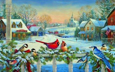 Birds At Christmas Time Cross Stitch Pattern***L@@K***