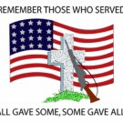 Remember Those Who Served Cross Stitch Pattern***L@@K*** ~~ I SEND WORLD-WIDE ~~Free