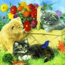 Playing In The Flowers Cross Stitch Pattern***L@@K***