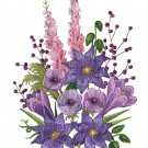 Purple Passion Flowers Cross Stitch Pattern***L@@K***