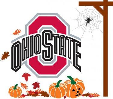 Ohio State Fall Holiday Cross Stitch Pattern***L@@K***