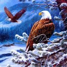 Snowey Eagle Pair Cross Stitch Pattern***L@@K***~~ I SEND WORLD-WIDE ~~Free