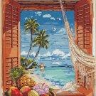 Tropical Vacation View Cross Stitch Pattern***L@@K***