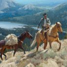 Cowboy Mountian Trail Cross Stitch Pattern***L@@K***