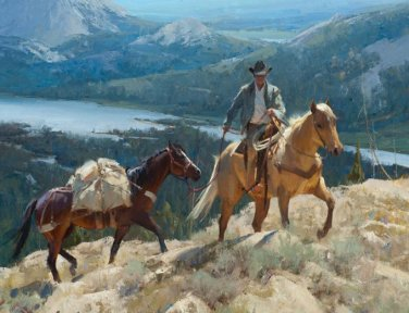 Cowboy Mountian Trail Cross Stitch Pattern***LOOK***