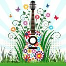 Meadow Guitar Cross Stitch Pattern***LOOK***
