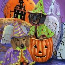 Halloween Dachshunds Cross Stitch Pattern***LOOK***