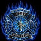 Fire-Fighter Blue Flame Cross Stitch Pattern***LOOK***
