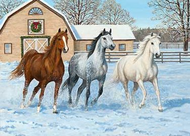 Horses In Snow Cross Stitch Pattern***LOOK***
