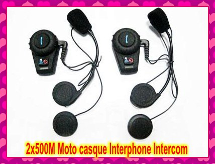 Interphone Intercom Motorcycle Helmet  2x500M