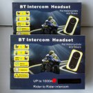 Motorcycle Helmet bluetooth Interphone Intercom 2x1000M