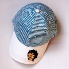 Blue and white stripes Hats adjustable Baseball Cap kids children 2 pieces