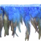 10 yards Clothing costume coque feather fringe couture applique trimming craft Navy Blue