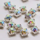 montee loose 4.0mm crystal sew on AB rhinestone Silver 1440 pcs