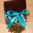 Party Favor - Loose Leaf  Tea in Blue Damask Box