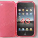 Multi-Circles TPU Soft Case Cover for apple iphone 4G(Pink)