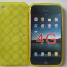 Multi-Circles TPU Soft Case Cover for apple iphone 4G(Yellow)