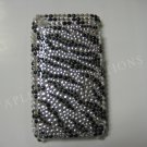 New Black Zebra Design Crystal Bling Diamond Case For iPhone 3G 3Gs - (0020)