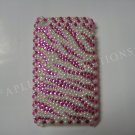New Hot Pink Zebra (Pearl) Design Crystal Bling Diamond Case For iPhone 3G 3Gs - (0110)