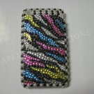 New Multi-Color Zebra Design Crystal Bling Diamond Case For iPhone 3G 3Gs - (0030)