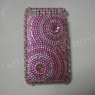 New Pink Diamond Swirlz Design Crystal Bling Diamond Case For iPhone 3G 3Gs - (0025)