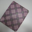 Plastic Hard Back Snap-On Cover for Apple iPad Plaid Pattern - PURPLE