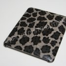 Plastic Hard Back Snap-On Cover for Apple iPad  BIG LEOPARD PATTERN- BROWN