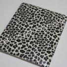 Plastic Hard Back Snap-On Cover for Apple iPad SMALL LEOPARD PATTERN-GRAY