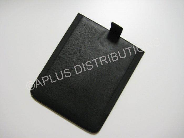 NEW FOR APPLE iPAD LEATHER SOLID BLACK