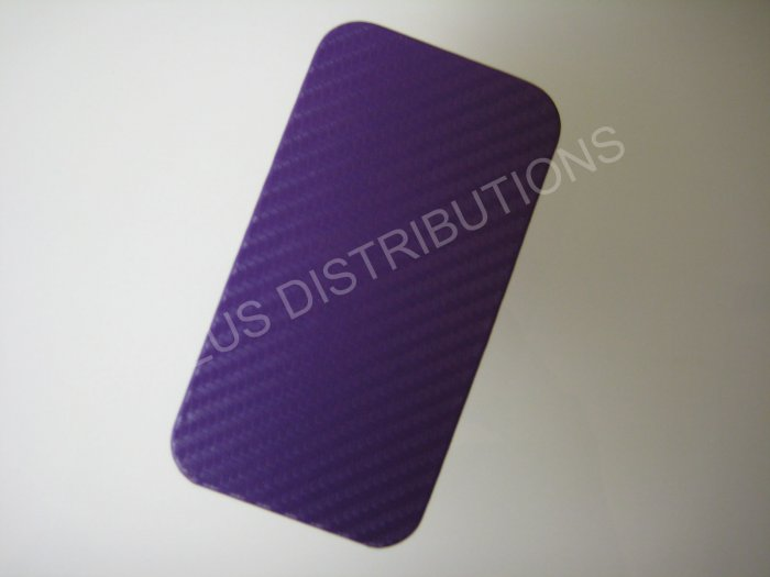 New Purple Carbon Flap Cover Design Hard Protective Cover For iPhone 4 - (0137)