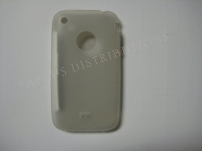 New Clear Transparent W/Charm Hole Design TPU Cover For iPhone 3G 3GS - (0004)