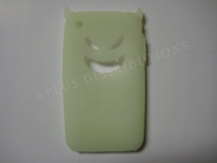 New Glow Devil Design Silicone Cover For iPhone 3G 3GS - (0019)