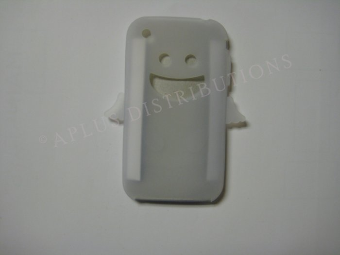New Clear Angel Design Silicone Cover For iPhone 3G 3GS - (0024)