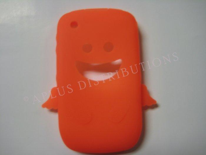 New Orange Angel Design Silicone Cover For Blackberry 8520 - (0182)