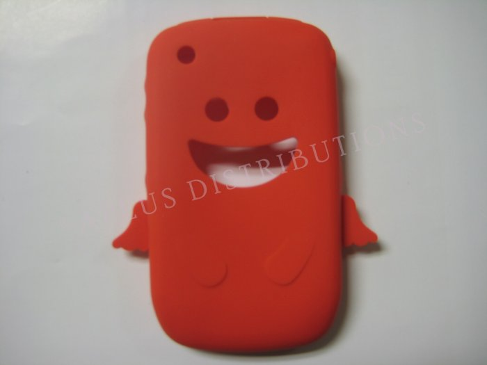New Red Angel Design Silicone Cover For Blackberry 8520 - (0025)