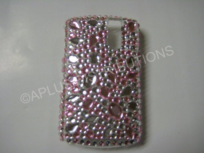 New Pink Multi-Size Diamonds Bling Diamond Case For Blackberry 8300 - (0015)