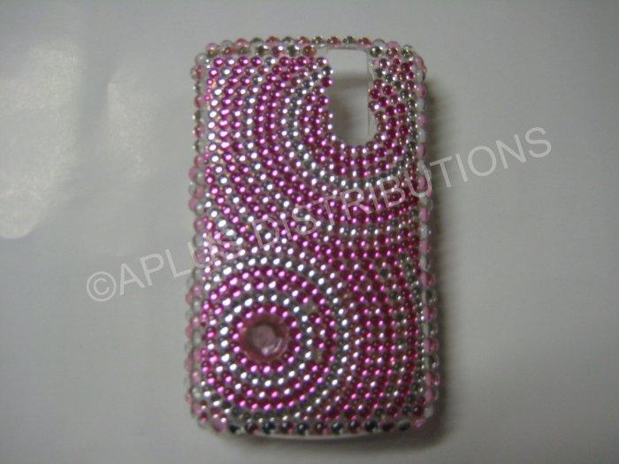 New Hot Pink Diamond Swirlz Bling Diamond Case For Blackberry 8300 - (0025)