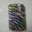 New Multi-Color Zebra Design Bling Diamond Case For Blackberry 8300 - (0030)