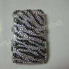 New Black Zebra Design Bling Diamond Case For Blackberry 8520 - (0020)