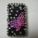 New Black Open Butterfly Bling Diamond Case For Blackberry 9700 - (0096)