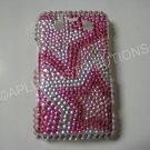 New Hot Pink Multi-Stars Bling Diamond Case For Blackberry 9700 - (0090)