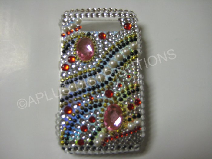 New Gold Old Fashion Pink Diamond Bling Diamond Case For Blackberry 8900 - (0063)