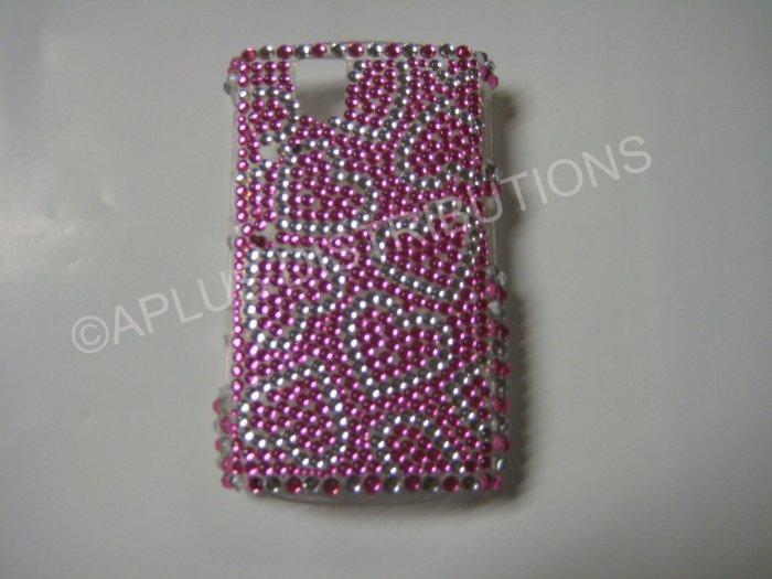 New Pink Heart Series Bling Diamond Case For Blackberry 9630 - (0065)