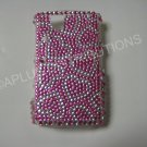 New Pink Heart Series Bling Diamond Case For Blackberry 9630 - (0065)