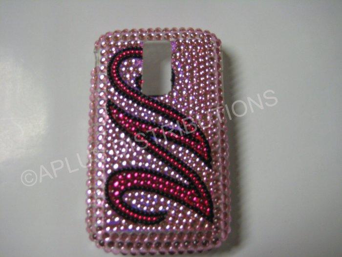 New Hot Pink Initial M Bling Diamond Case For Blackberry 9000 - (0064)