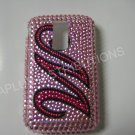 New Hot Pink Initial M Bling Diamond Case For Blackberry 9000 - (0064)