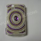 New Purple Diamond In Circle/Pearls Bling Diamond Case For Blackberry 9630 - (0067)