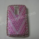 "New Pink ""V"" Pattern Crystal Bling Diamond Case For Blackberry 9000 - (0070)"